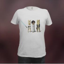 """Camiseta """"Han Luke Leia"""""""